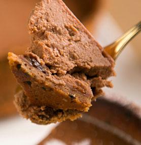 チョコケーキのスプーン