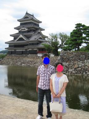 松本城&夫婦