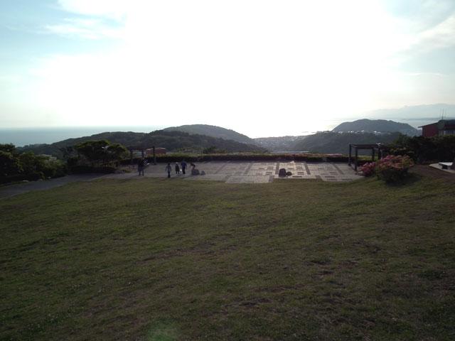 湘南国際村 グリーンパークの展望エリアの風景
