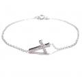Sideway cross bracelet white (5)