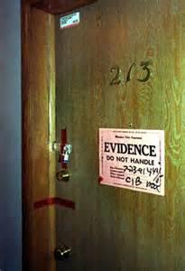 部屋そのものが証拠物件として押さえられた