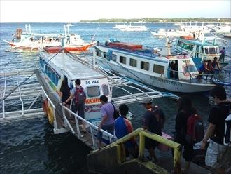 南国お気楽ひとり暮らし-カティクラン港 バンカーボート