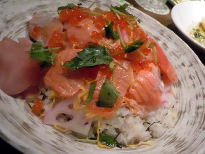 サーモンといくらの散らし寿司