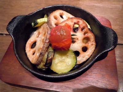 夏野菜の鉄板焼き
