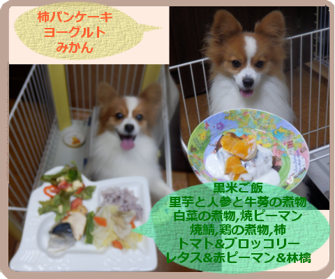 柿のパンケーキ