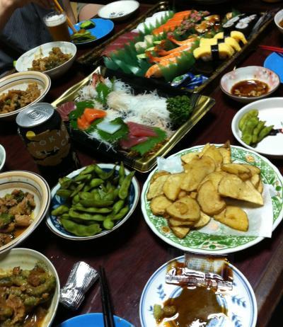 家族と食事