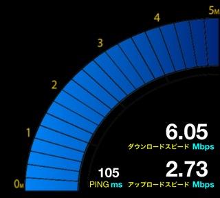 設置後約6Mbps