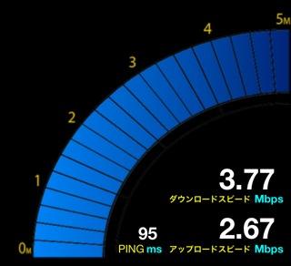 設置前約4Mbps
