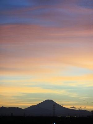 富士夕焼け