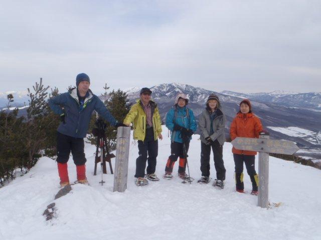 07角間山山頂は360°の大展望