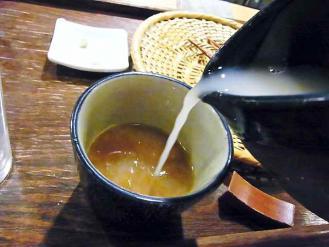 13-4-18 蕎麦湯そそぎ