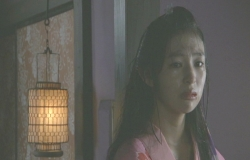 悲しい目で見つめる桜姫