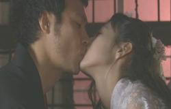 接吻する桜姫