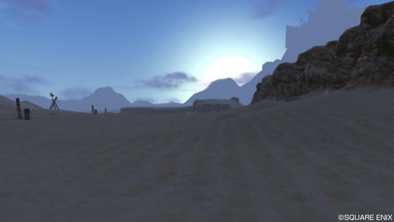 ゴブル砂漠の日の出