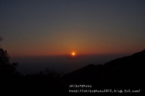 photo-290 生駒山からの夕日1