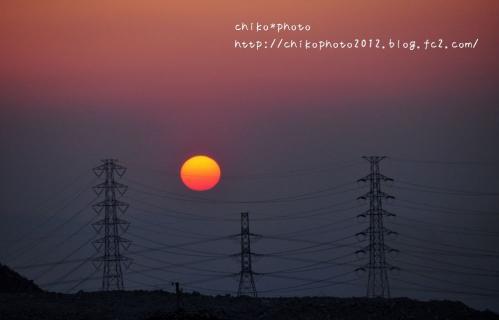 photo-291 生駒山からの夕日2