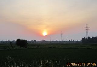 芒種の日の出