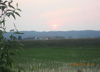 芒種の日没
