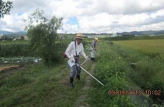 農道草刈(9・9)