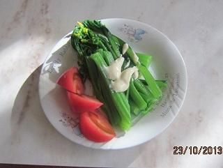 アスパラ菜の温野菜