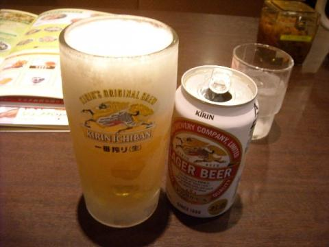 coco壱番屋・ビール