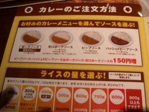coco壱番屋・メニュー12