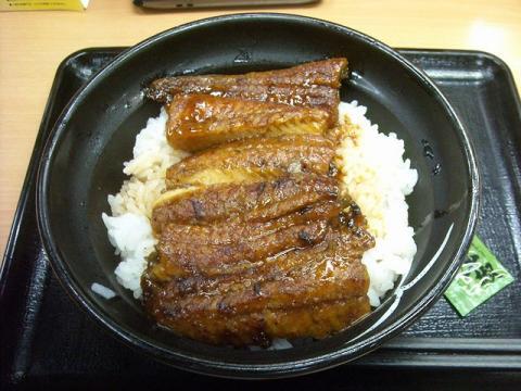 吉野家・鰻丼二枚盛