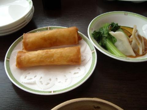 桃季・春巻・セロリ水餃子