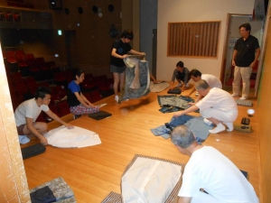 繁昌亭14期、着物の畳み方