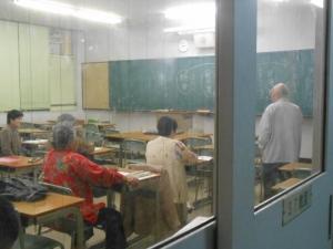 桃谷高校授業風景