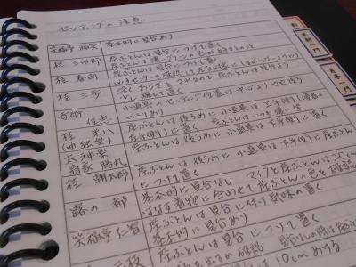 稲島桂子さんノート、演者の癖