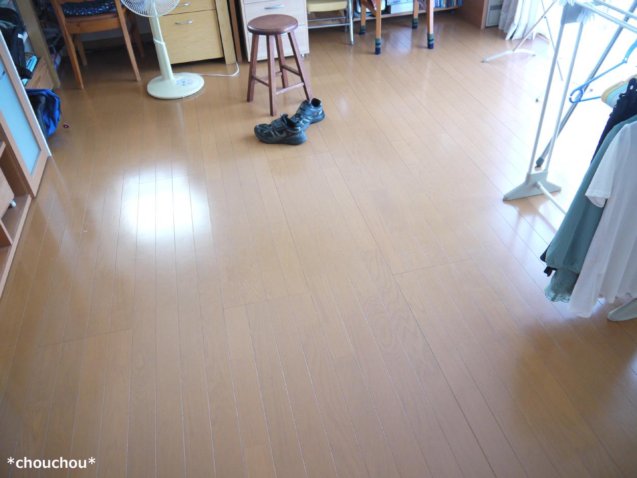 床磨き before
