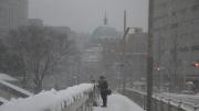 雪の日 聖橋とニコライ聖堂とマニア