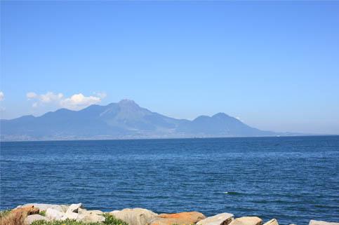 天草から見た島原