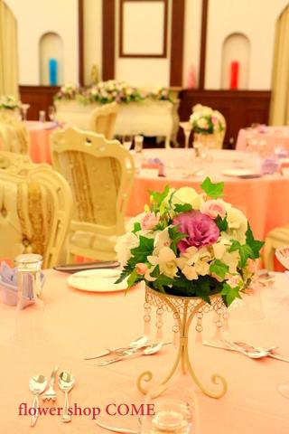 サイドテーブル装花(大人パステルカラー)