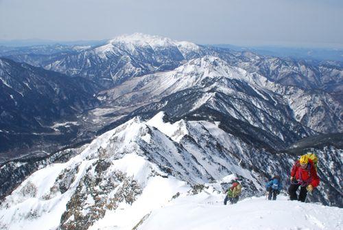 5ガイド隊も西穂高登頂