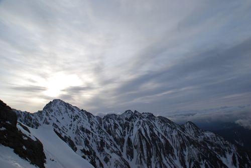 9稜線の夕暮れ