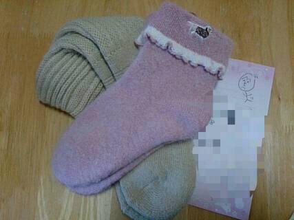 そらの誕生日に空天ままさんからプレゼント私への靴下