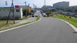 003江戸川CR出発点(海側)です、工事中でしたが繋がりました