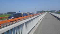 014流山橋でUターン