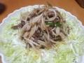 牛肉ともやしのオイスターソース炒め 20131113