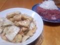 白菜の旨煮とマグロのお刺身 20131124