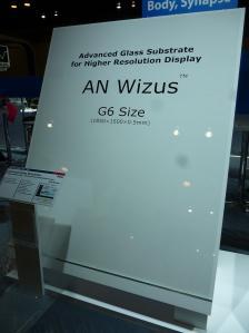 図1 第6世代サイズの「AN Wizus(エイエヌ ウィザス)」ガラス基板