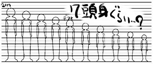 背の比較用