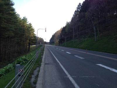 道道7号の登坂車線