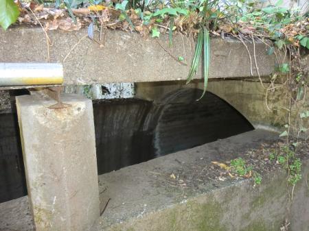 畑地かんがい用水路水路橋谷津川右岸