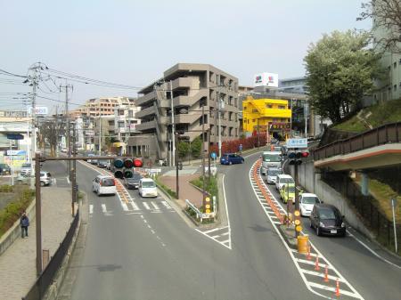 上溝駅付近市道と県道57号線