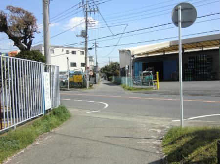 専用導水路・県道63号線葛輪バス停付近