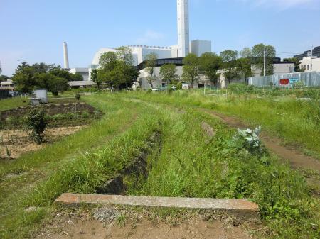 横浜水道みちより畑かん西幹線用水路上流を望む