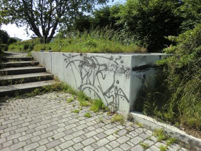畑かん西幹線用水路・新磯野バス停前